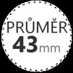 PRŮMĚR 43mm