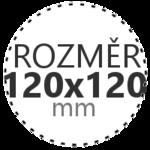 ROZMĚR 120x120mm