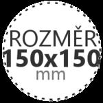 ROZMĚR 150x150mm