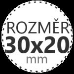 ROZMĚR 30x20mm