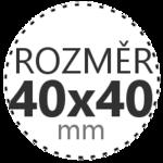 ROZMĚR 40x40mm