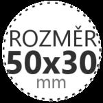 ROZMĚR 50x30mm