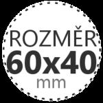 ROZMĚR 60x40mm