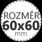 ROZMĚR 60x60mm