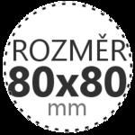 ROZMĚR 80x80mm