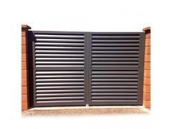 Hliníková brána Antracit dvoukřídlá 5000x1600mm