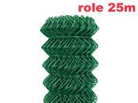 Pletivo Zn+PVC 50, oko 55x55mm, 1,5/2,5/1600/mm/Zel/role 25 m, výška 160cm