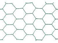 Chovatelské šestihranné pletivo Zn+PVC 13/1000, drát 1,0