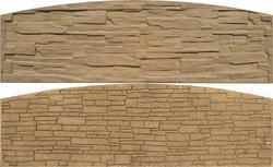 Betonový panel štípaný kámen 2-str. pískovec  200x60x4 oblouk