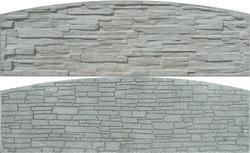 Betonový panel štípaný kámen 2-str. přírodní  2000x600x40 mm oblouk