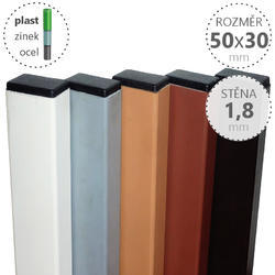 Nosník DAMIPLAST® 50x30x1,8x na míru, různé barvy