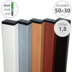 Nosník DAMIPLAST® 50x30x1,8x6100 mm, různé barvy