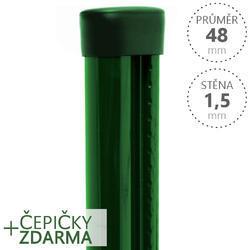 Sloupek PILCLIP Zn lakovaný 48/1,5 zelený s montážní lištou