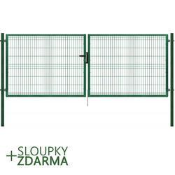 Brána Pilofor 4118 mm, svařovaný panel s prolisem, FAB, zelená