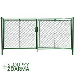 Brána Savan 3600 mm, čtyřhranné pletivo, příprava na FAB, zelená