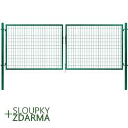Brána Solid 3605 mm, svařovaná síť, oko, zelená, ⌀ 76 mm