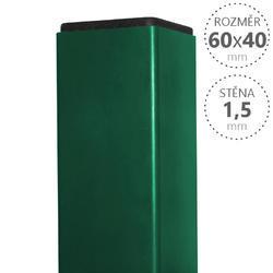 Sloupek Pilodel 60/40/1,5 mm Zn+RAL zelená