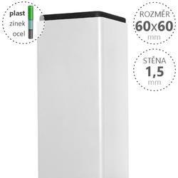 Sloupek DAMIPLAST® poplastovaný  60/60/1,5 Zn + PVC BÍLÁ