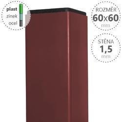 Sloupek DAMIPLAST® poplastovaný  60/60/1,5 Zn + PVC CIHLOVÁ