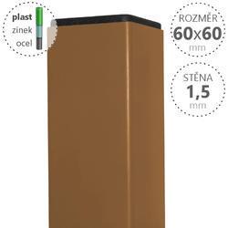 Sloupek DAMIPLAST® poplastovaný  60/60/1,5 Zn + PVC PÍSKOVÁ