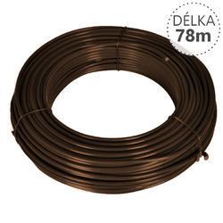 Napínací drát Zn+PVC 2,25/3,4, hnědý, 78m