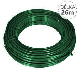 Napínací drát Zn+PVC 2,25/3,4, zelený, 26m