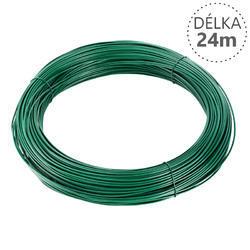 Vázací drát Zn+PVC 1,0/1,4mm, zelený, 24m