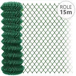 Pletivo poplastované zelené bez zapletného drátu role 15 m