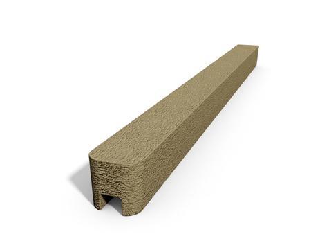Betonový sloupek hladký koncový pískovec 2500 mm, Nadzemní výška 2500 mm - 1