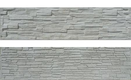 Betonový panel štípaný kámen 2-str. přírodní  200x50x4 - 1