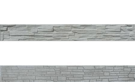 Betonový panel štípaný kámen 2-str. přírodní  2000x250x40 mm - 1