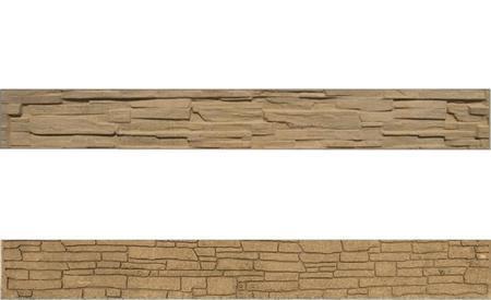 Betonový panel štípaný kámen 2-str. pískovec  2000x250x40 mm - 1