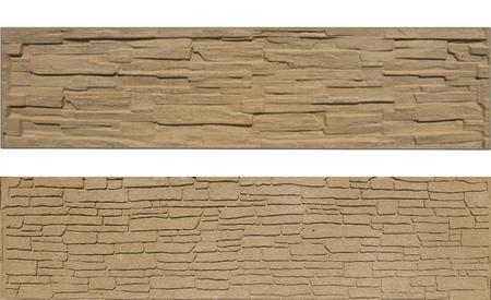 Betonový panel štípaný kámen 2-str. pískovec  200x50x4 - 1