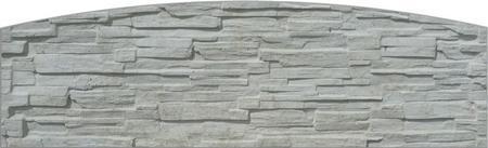 Betonový panel štípaný kámen 1-str. přírodní  2000x600x40 mm oblouk - 1