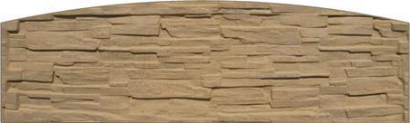 Betonový panel štípaný kámen 1-str. pískovec  2000x600x40 mm oblouk - 1