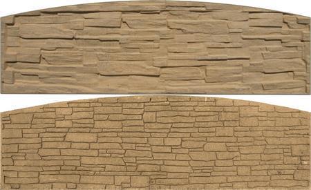 Betonový panel štípaný kámen 2-str. pískovec  2000x600x40 mm oblouk - 1