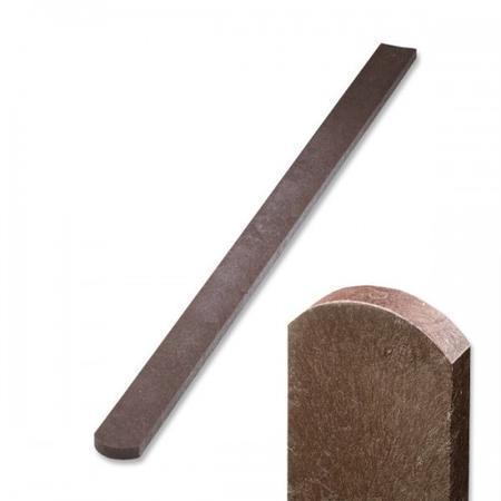 Recyklát hnědá půlkulatá 78x21x1200 mm, Výška 1200 mm - 1