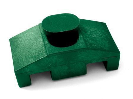 Úchyt panelu plast k jekl.sl.Super vč. texu  6,3/45 zelená - 1