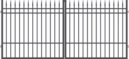 Brána dvoukřídlá s kováním PORTLAND 3000 mm, S kováním 3000 mm