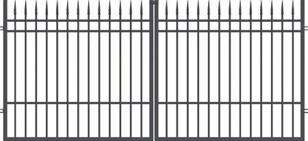 Brána dvoukřídlá s kováním PORTLND 3500 mm, S kováním 3500 mm - 1