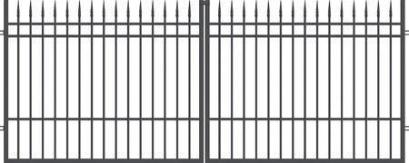 Brána dvoukřídlá s kováním PORTLAND 4000 mm, S kováním 4000 mm - 1
