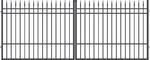 Brána dvoukřídlá s kováním PORTLAND 4000 mm, S kováním 4000 mm - 1/2