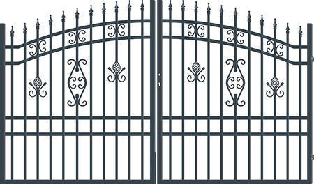 Brána dvoukřídlá s kováním ALICE 3000 mm, S kováním 3000 mm