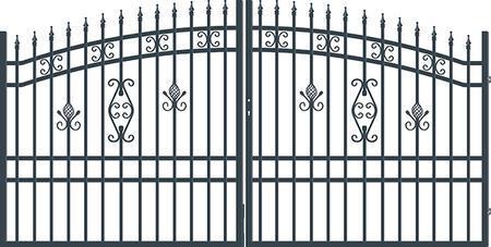 Brána dvoukřídlá s kováním ALICE 3500 mm, S kováním 3500 mm