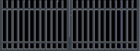 Brána dvoukřídlá s kováním BARCELONA 3000 mm, S kováním 3000 mm