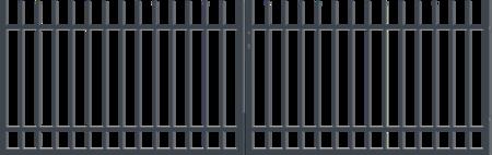 Brána dvoukřídlá s kováním BARCELONA 3500 mm, S kováním 3500 mm