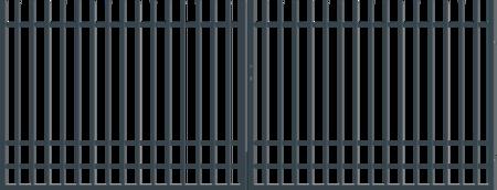 Brána dvoukřídlá s kováním NICE 4000 mm, výška 1500 mm, S kováním 4000 mm, výška 1500 mm