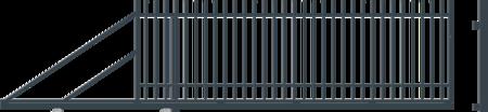 Brána posuvná levá NICE