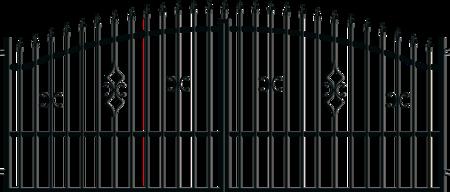 Brána dvoukřídlá s kováním TOLA 3500 mm, S kováním 3500 mm
