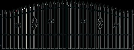 Brána dvoukřídlá s kováním TOLA 4000 mm, S kováním 4000 mm